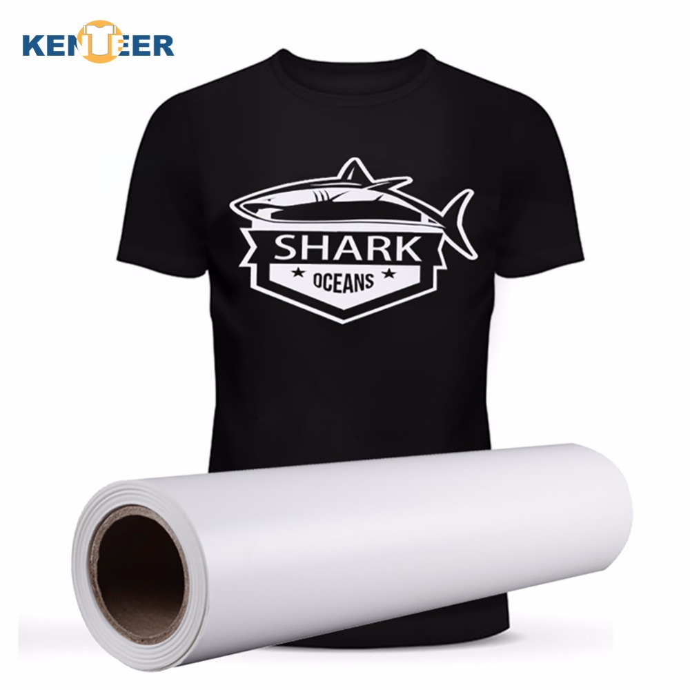 Heat Transfer Vinyl 50cm wide white colors PVC transfer vinyls iron on heat transfers for clothes design hat bag shirts films