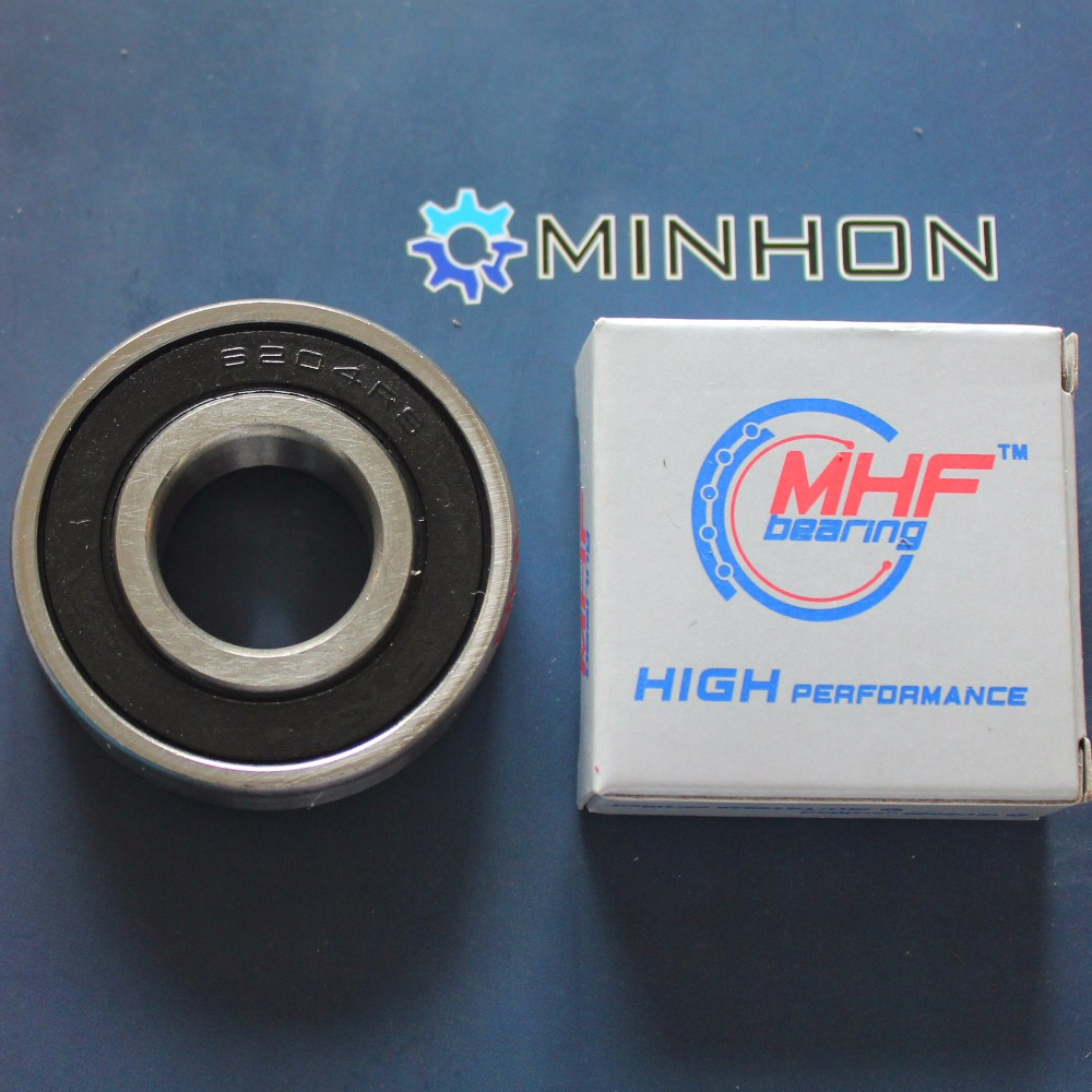 6204-2RS 6204 6204ZZ 6204 2RS MHF Ball Bearings Size 20*47*14 Mm Best Price High Performance