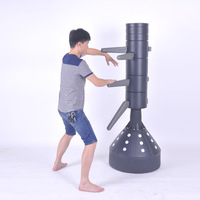 2017 New Sand Water Injection Wing Chun Wooden Dummy Kung Fu Training Mook Jong Ip Man