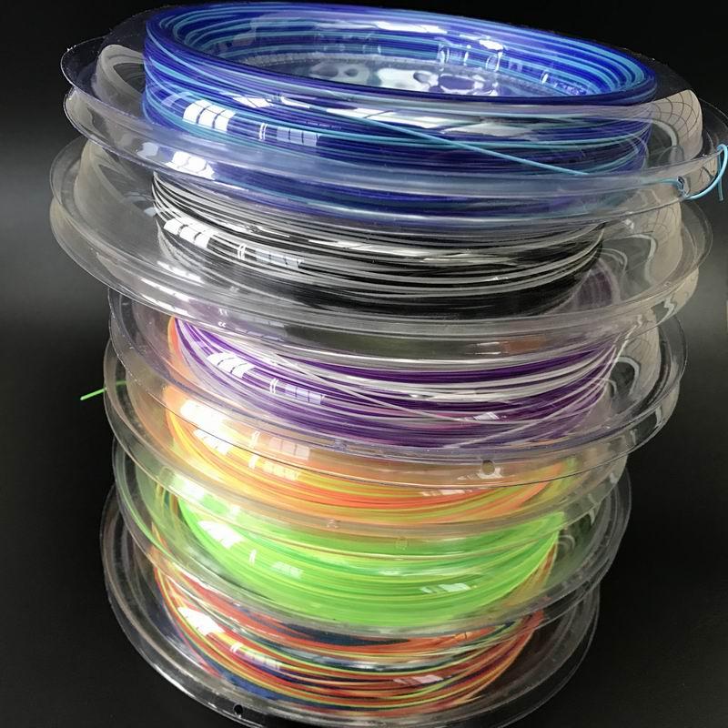 Frete grátis (1 carretel/lote) 200m colorido badminton string reel 200m