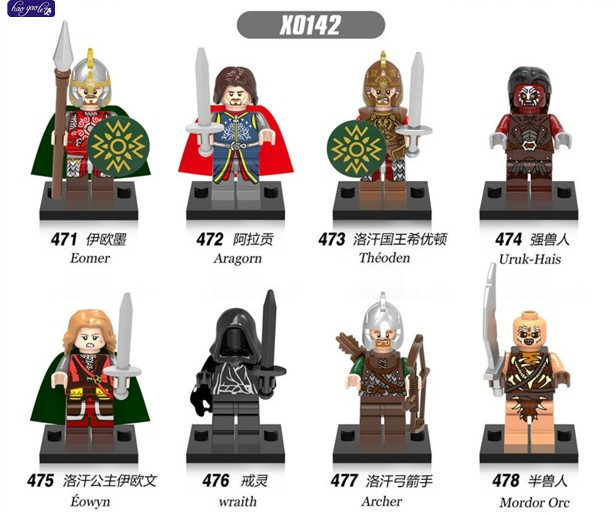 HAOGAOLE 320Pc x0142 Blocks The Lord of the Rings Aragorn rohan King Theoden Medieval Castle Boromir Kids Gift Toys hot sale the hobbit lord of the rings mordor orc uruk hai aragorn rohan mirkwood elf building blocks bricks children gift toys