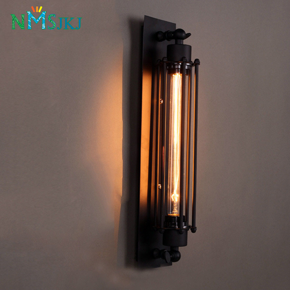 Industrial Wall Light Bedroom: Aliexpress.com : Buy Vintage Industrial Iron Wall Sconces