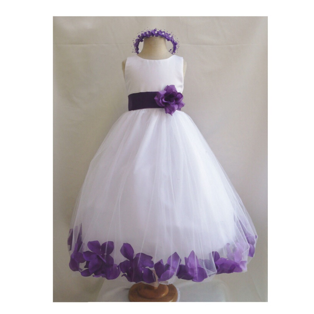 Online shop white purple wedding bridesmaid infant toddler rose online shop white purple wedding bridesmaid infant toddler rose petals flower girl dress aliexpress mobile ombrellifo Gallery