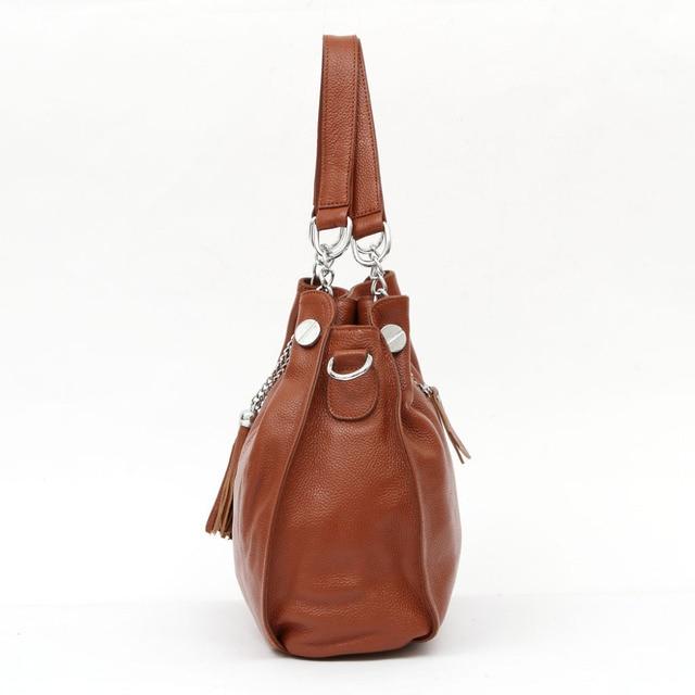 ZENCY Bags Top Quality 100% Real Genuine Leather Soft Cow Leather Bag Women Handbag Shoulder Tote Messenger OL Bag