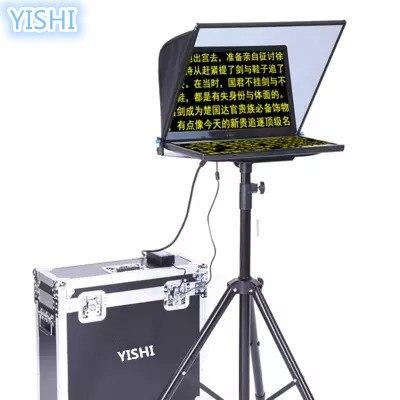 Professionelle Audiogeräte Schlussverkauf Yishi 24-inch Klapp Tragbare Teleprompter Für Nachrichten Interview Konferenz Rede Studio Gewidmet Teleprompter Rede Reader Up-To-Date-Styling