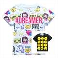 Emoji Shirt Verão Mangas Curtas T-shirt Tops Adolescente Roupas Meninos Crianças Emoji Emoticons Smiley Faces Crianças Roupas Para 11 Y