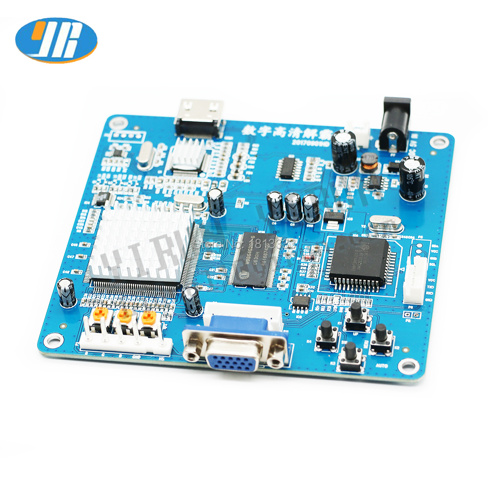 VGA//RGB//CGA//EGA//YUV TO HDMI Video Output Converter Board HD for Arcade Blue