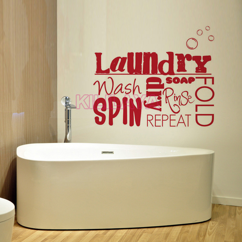 diy vinyl wall stickers laundry room mural wall decals sticker