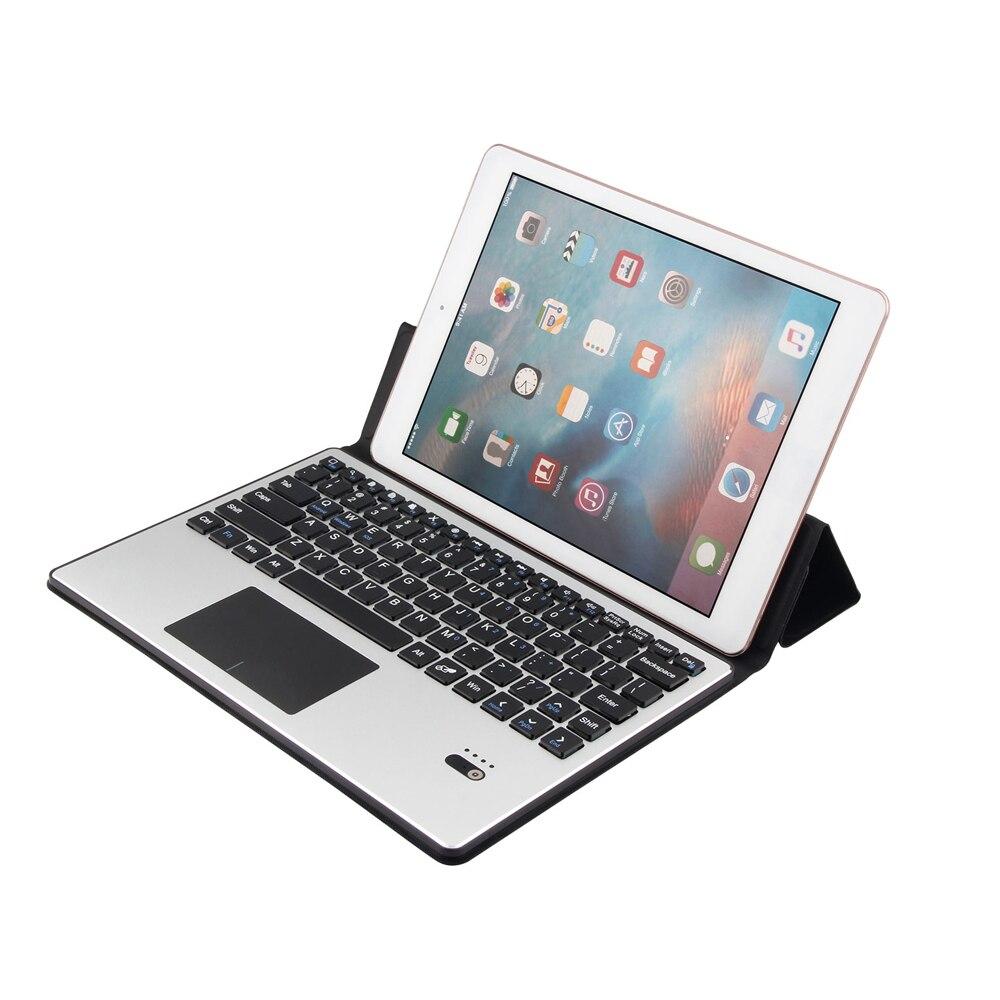 Clavier Bluetooth sans fil Ultra-mince avec housse de protection en cuir PU pour tablette 10.1 pouces