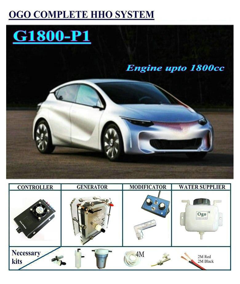 OGO HHO Completo sistema G1800-P1 PWM CE & FCC MAF/MAP fino a Motore 1800CC