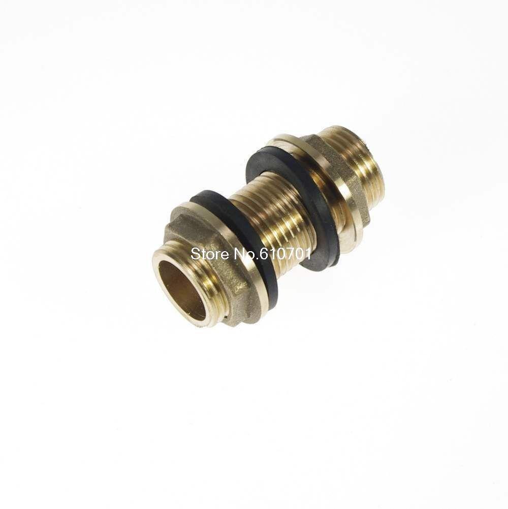 1/2 Bsp Male Brass Pipe Running Nipple Fitting 50mm Length With Lock Nuts austria ruwido i 1k 100k 220k 470k axis length 50mm