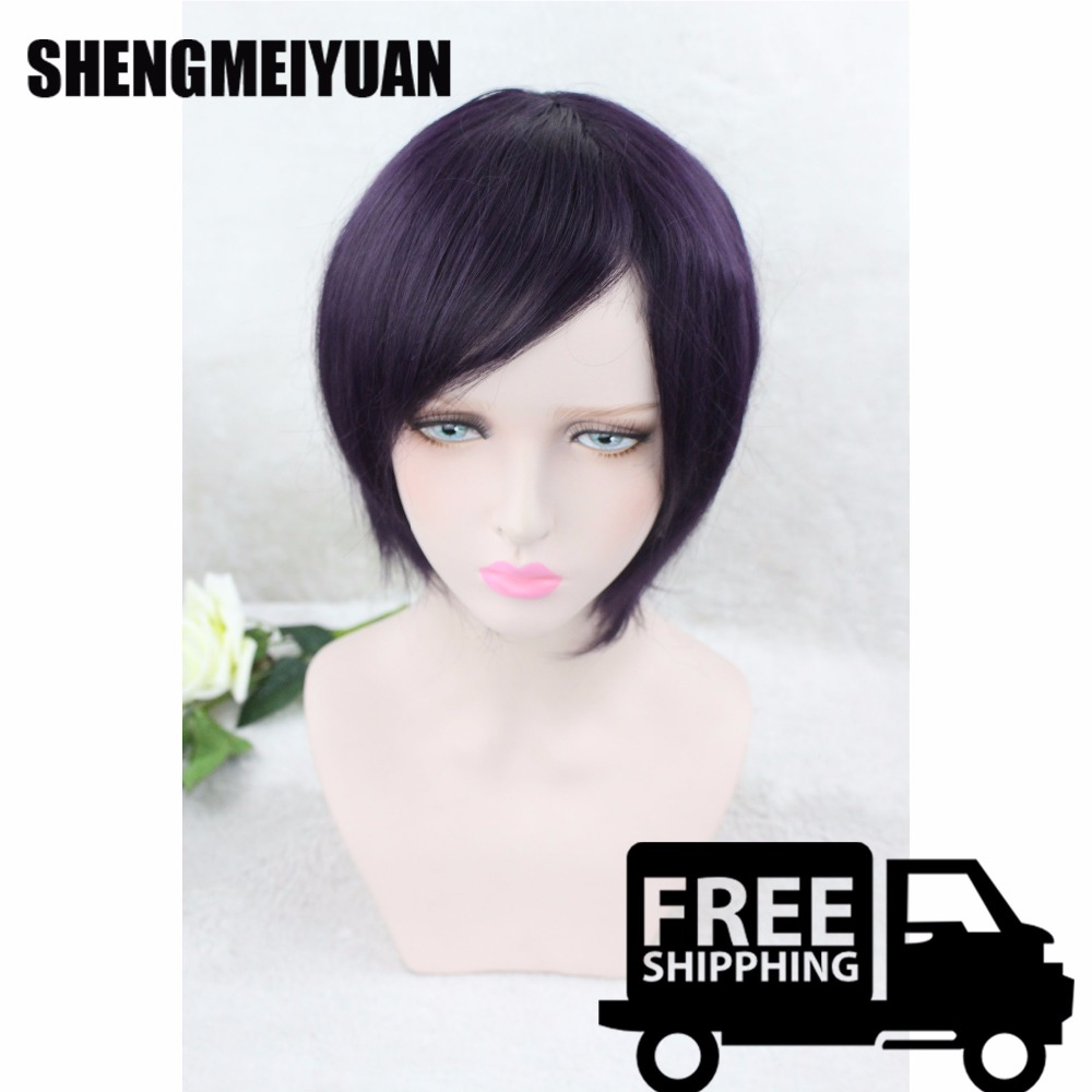 Top Quality 25cm Men Short Synthetic Hair Orange Wig Koushi Sugawara Nishinoya Yuu Hinata Haikyuu Anime Cosplay Wig FreeShipping