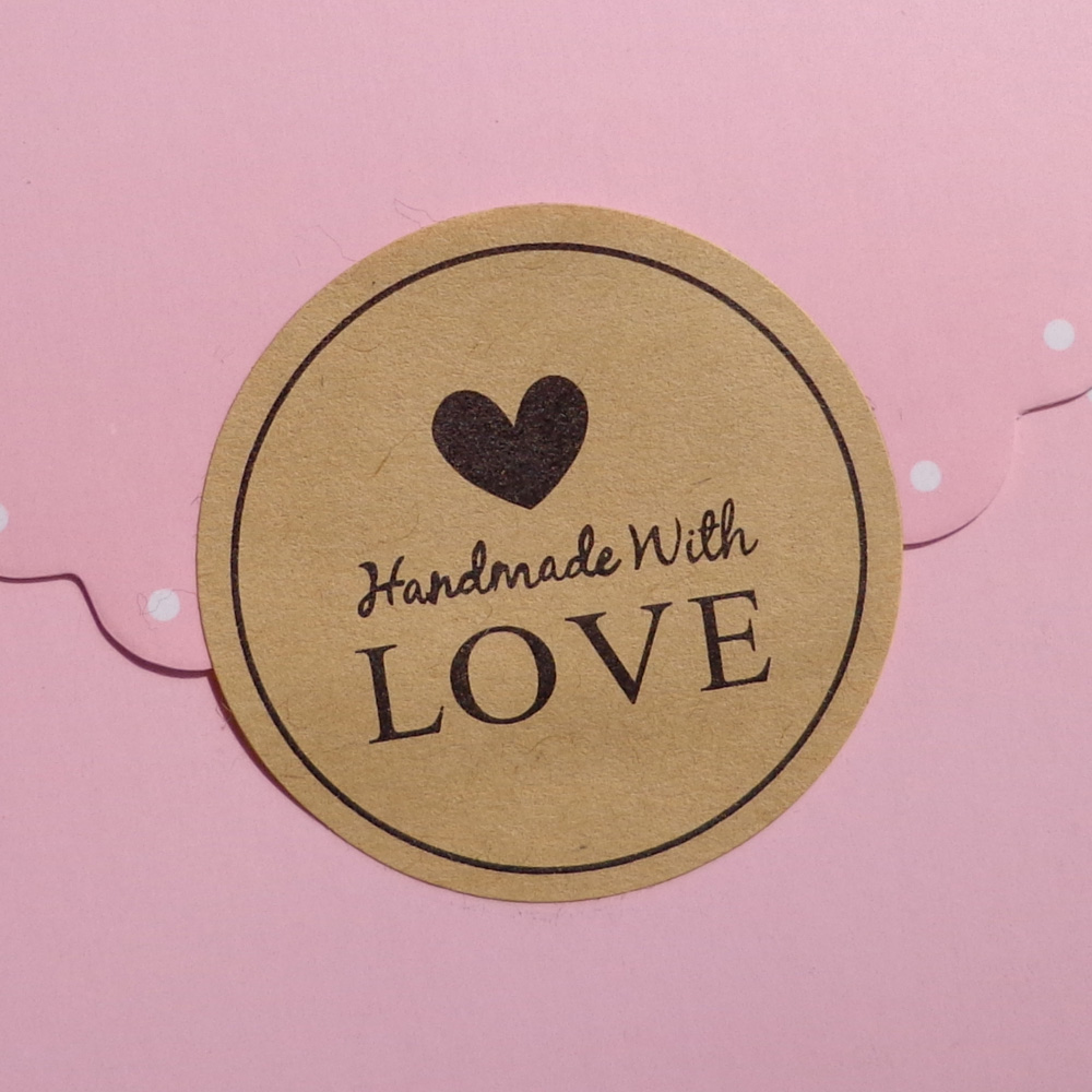 1200pcs Round Kraft Seal Sticker Handmade With Love Gift Label In Party DIY Decorations From Home Garden On Aliexpress
