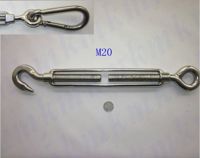Wholesale M20 US type stainless steel wire rope marine hardware 304 ...