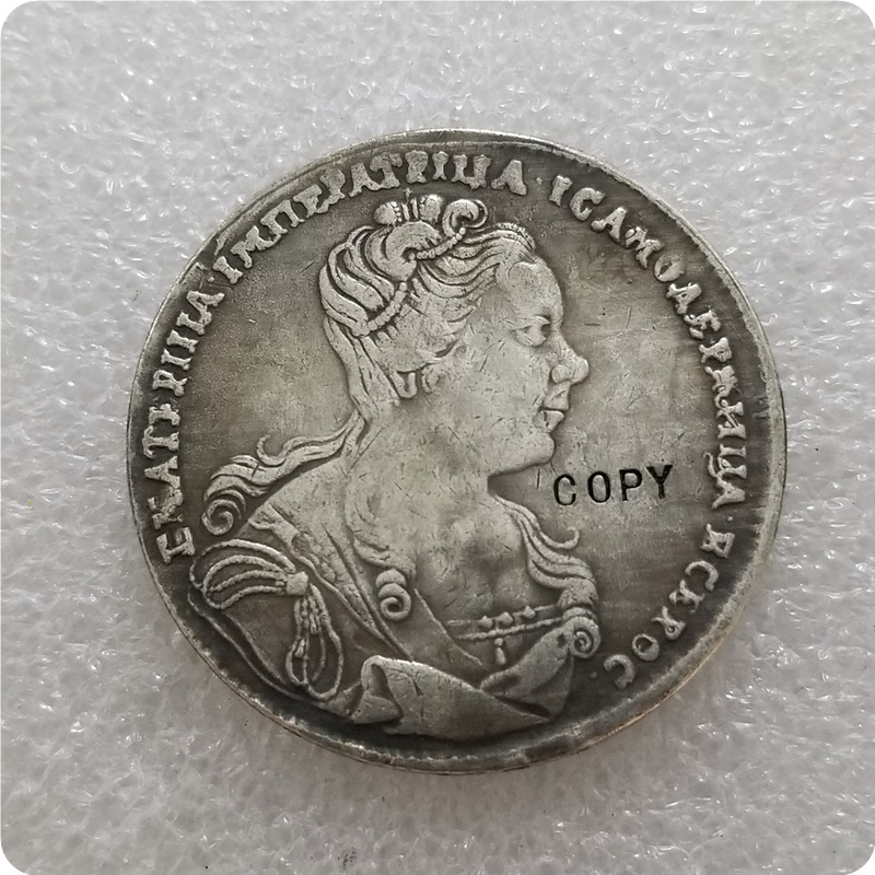 Catherine-I-1727-Moneta-Ruble rosyjski kopiuj monety okolicznościowe-monety okolicznościowe monety kolekcje