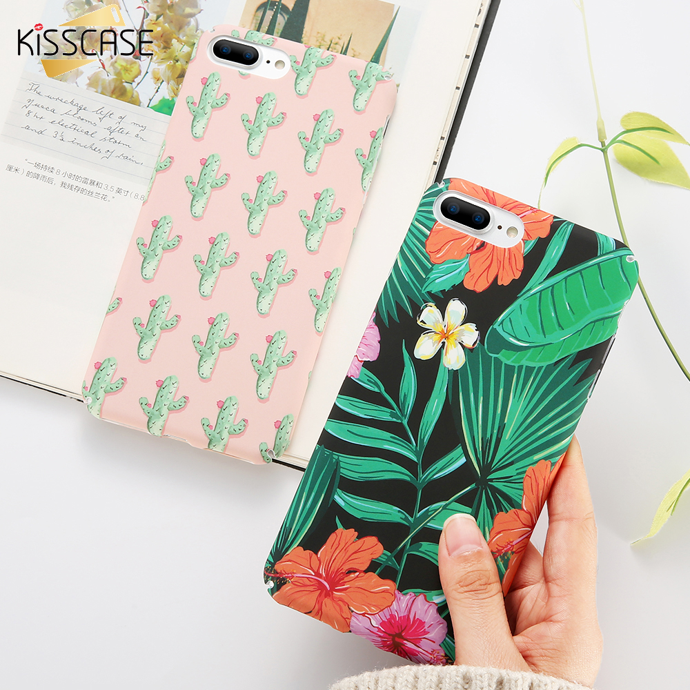Galleria fotografica KISSCASE Floral Vintage Case For iPhone 7 8 6 6s Plus 5S SE Case Cute Cartoon Girly Back Cover For iPhone 6 6s Case Coque Fundas