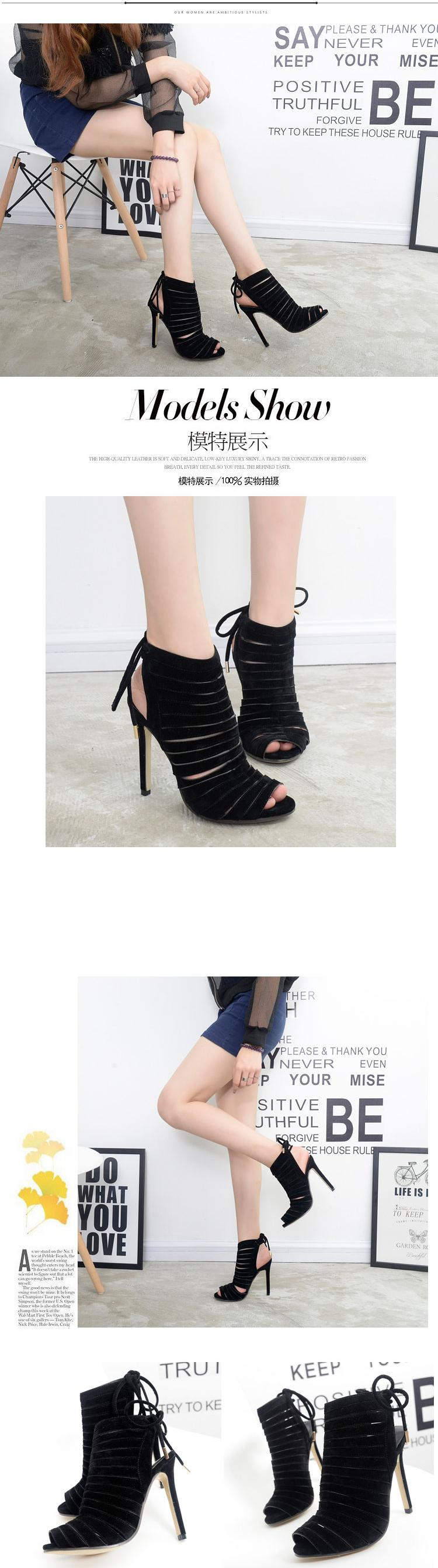 Odinokov Roman Sandals Women Pumps New Style Booties Ladies Sexy Hollow Cross Lace Up High Heels Shoes Woman 10