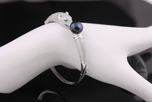 [Yinfeng] Real 925 silver AAAA high quality charm tiger bracelet for women Genuine Natural Pearl Bangle Jewelry Gift Box
