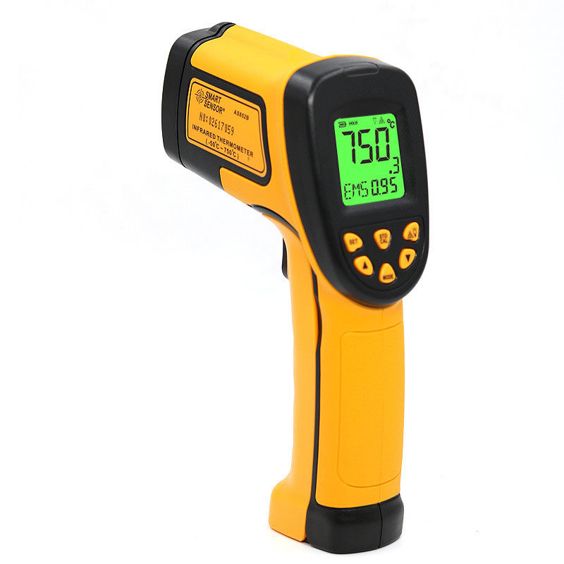 Thermometer, high-precision infrared thermometer, hand-held temperature gun, high thermometer