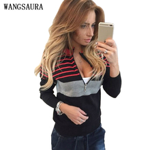 2016 Autumn Women's Casual Hoodies Sweatshirt Winter Female Long Sleeve Zipper Jumper Pullover Tops Shirt