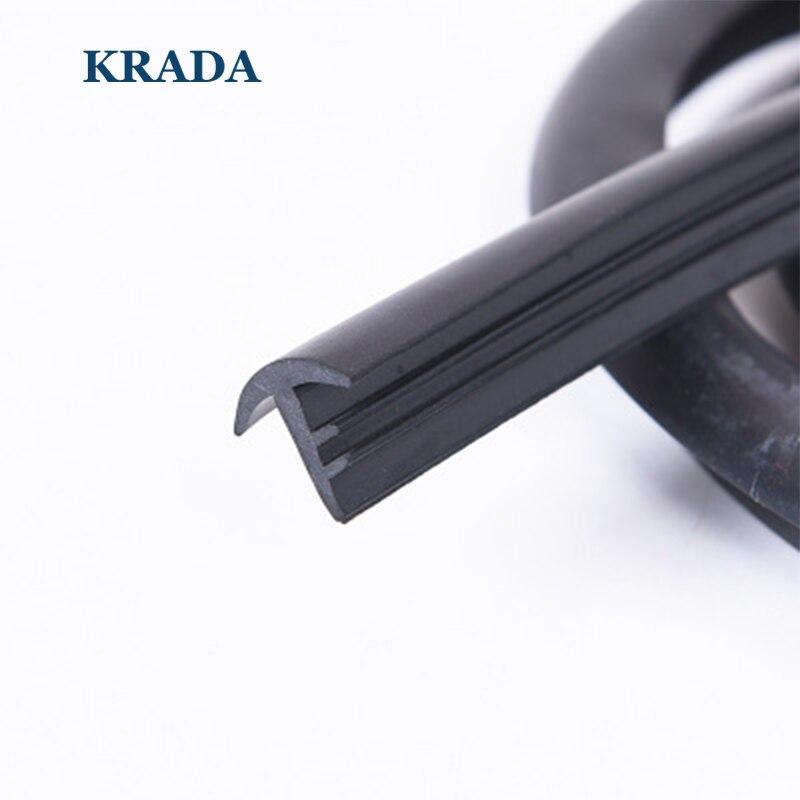 KRADA T Type Auto Joints En Caoutchouc 1.6 m Pare-Brise Joint Adhésif Bandes De Voiture style pour Vw Bmw E36 E39 E60 X1 Passat Mazda Kia Rio