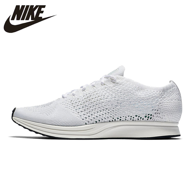 3194d419a796 Original New Arrival Authentic NIKE Flyknit Racer Men s Breathable Low Top  Running Shoes Sneakers Trainers