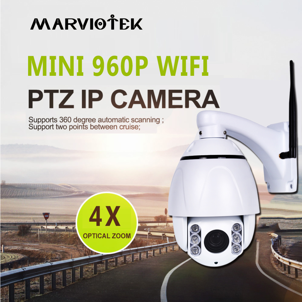Wireless PTZ High Speed Dome IP Camera WIFI 4X Zoom Waterproof 960P Home Security Video Surveillance Camera Outdoor ONVIF IR 60MWireless PTZ High Speed Dome IP Camera WIFI 4X Zoom Waterproof 960P Home Security Video Surveillance Camera Outdoor ONVIF IR 60M