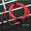 HIFI Earphone Cable With Mic 1.2m Audio Cable Headphone Repair Headset Wire DIY Headphone Earphone Maintenance Wire