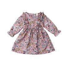 Новинка года; Лидер продаж; милая одежда для маленьких девочек; милая рубашка с длинными рукавами и цветочным принтом; топы; хлопковая одежда