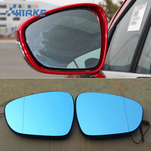 smRKE 2Pcs For Peugeot 308 2013-2018 Rearview Mirror Blue Glasses Wide Angle Led Turn Signals light Power Heating