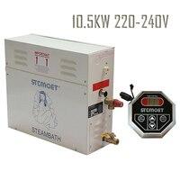 Free shipping Ecnomic model 10.5KW 220 240V Steam Generator Sauna Bath Steamer with ST 135 Controller Steam room Accessories