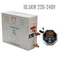 Livraison gratuite Ecnomic modèle 10.5KW 220-240 V générateur de vapeur Sauna bain vapeur avec contrôleur de ST-135 accessoires de hammam