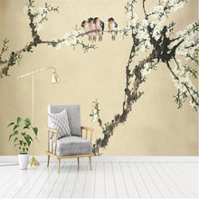 цена на Custom mural TV living room sofa background wall professional production murals wholesale wallpaper custom photo wall