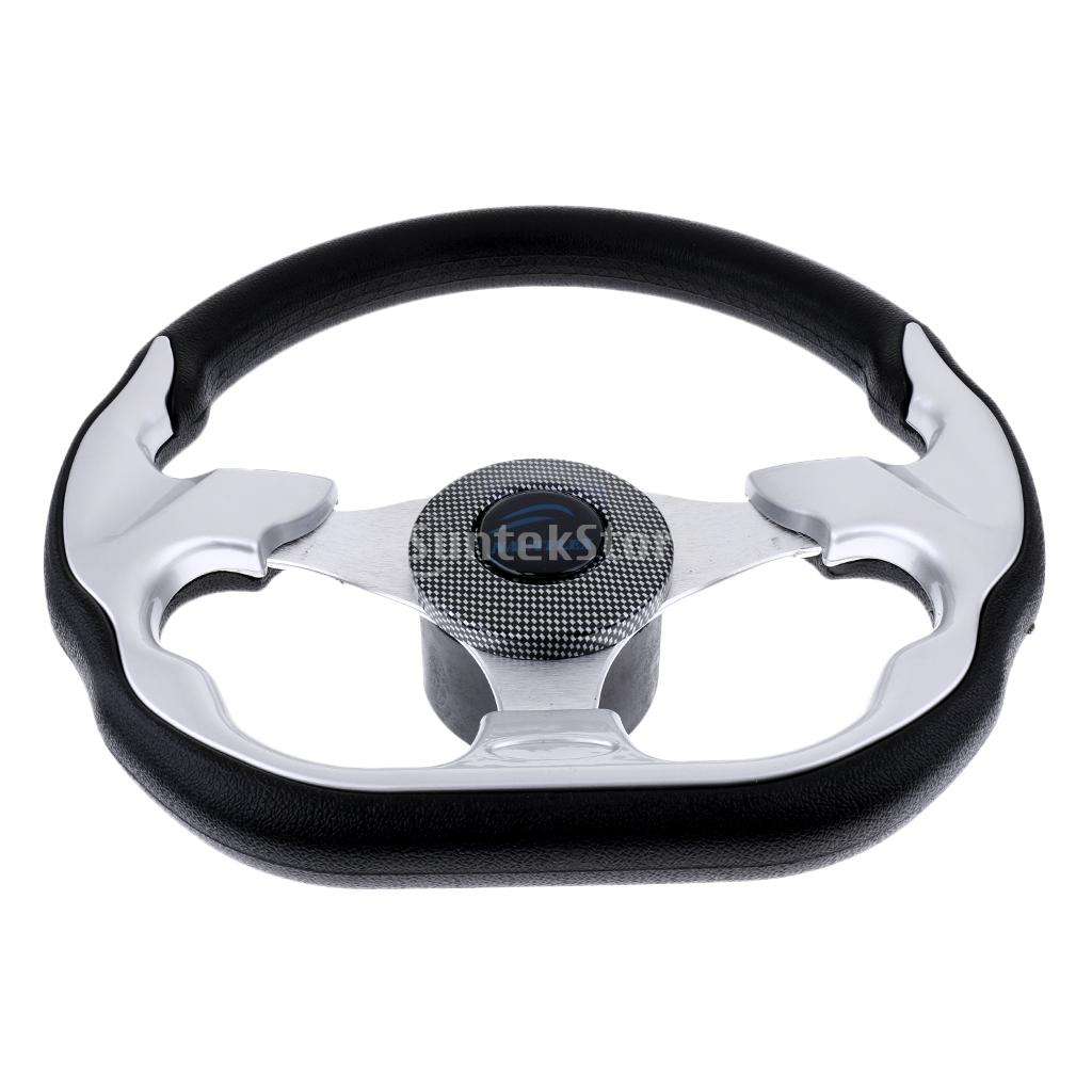310mm Aluminum Alloy D Shape Marine Boat Steering Wheel 3 Spoke 3 4 Key Way Tapered