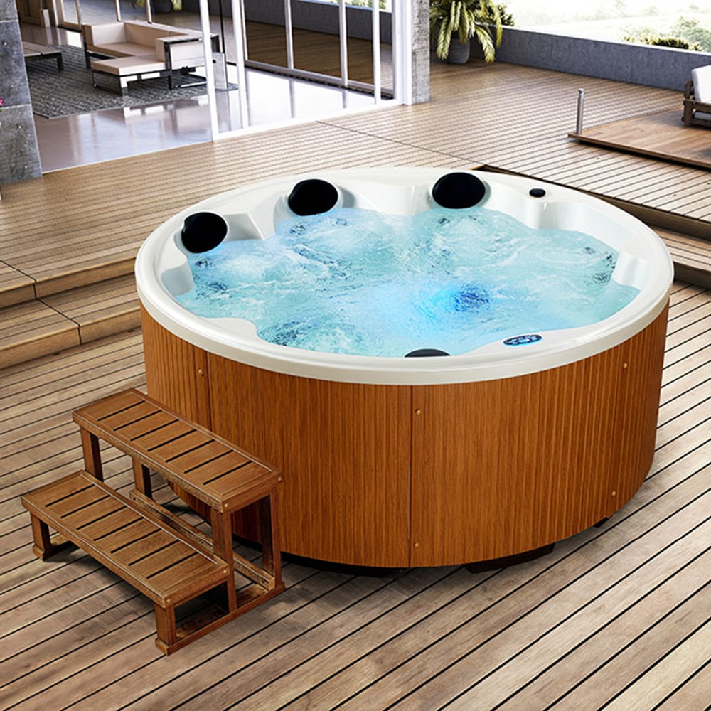 Hot sale 7 People Spa Tubs made in China deluxe outdoor whirlpool ...