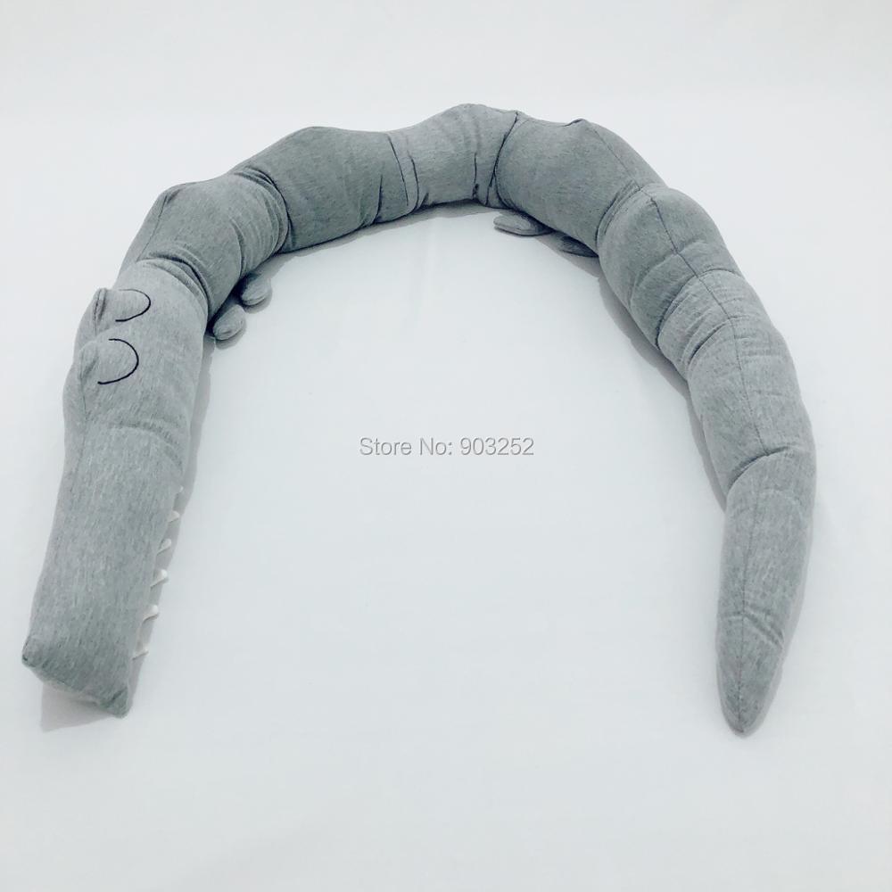 185 см качественная серая детская кроватка бампер Подушка детская подушка-крокодил Подушка детская кровать забор Детская комната украшения игрушки