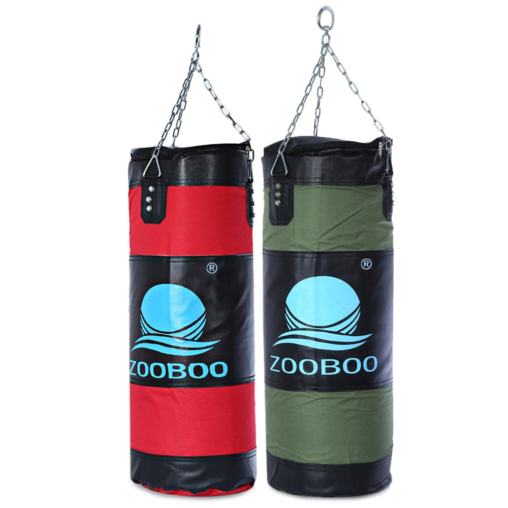 Zooboo 70cm Boxing Sandbag Striking Drop Hollow Empty Sand Bags With Chain Martial Art Training Punch Target Boxing Pad Punching