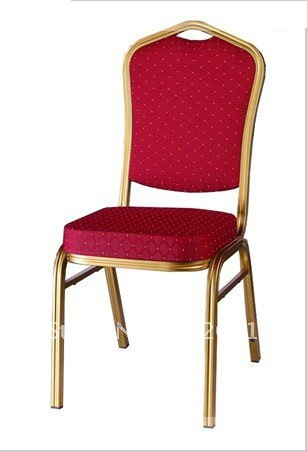 Hot Sale Aluminum Banquet Chair,curve Shape Seat With High Density,heavy Duty Fabric,paint Coating Finish,two Stacking Bars