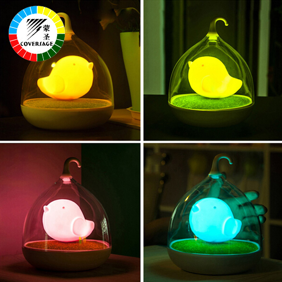 Coversage Sound Touch Motion Sensor Night Light Birdcage LED Rechargeable Battery Christ ...