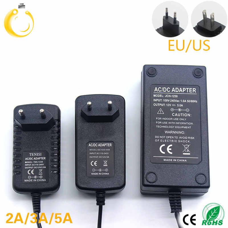 12 v carregador 2a 24 w transformadores de iluminação 100 v-265 v ac para dc12v interruptor adaptador de alimentação conversor para rgb led strip driver
