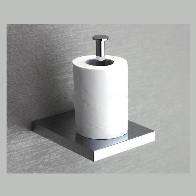 Copper Toilet Paper Holder Bathroom Paper Roller Wall Mounted Chrome - paper roler