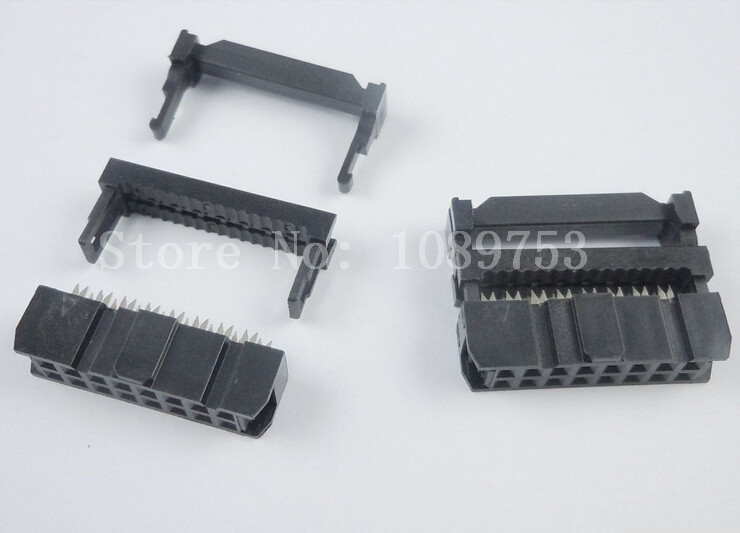 100pc 2x8 2x8P 16P 16pin pitch 2.54mm IDC Cable Plug Connector abs case with cooling fan heatsink removable top cover