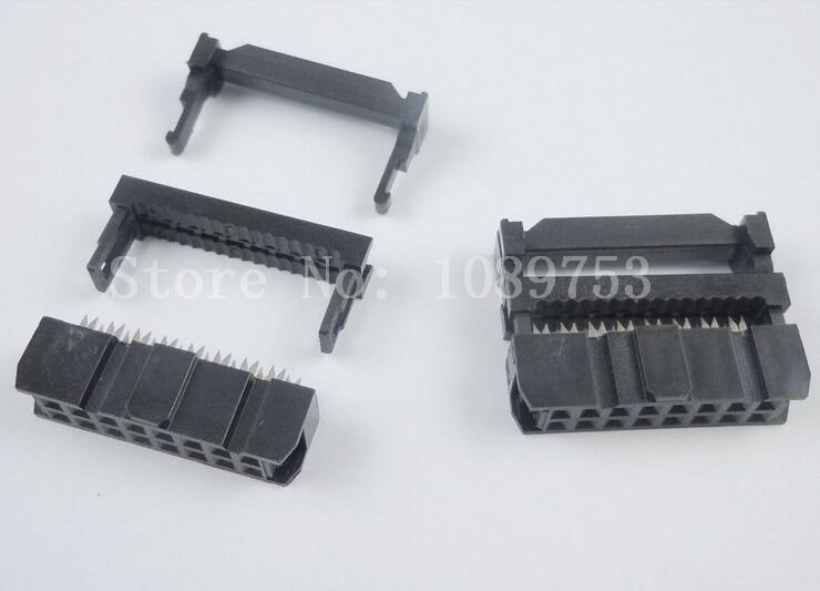 100 шт. 2x8 2x8P 16P 16 Pin шаг 2,54 мм разъем кабеля IDC