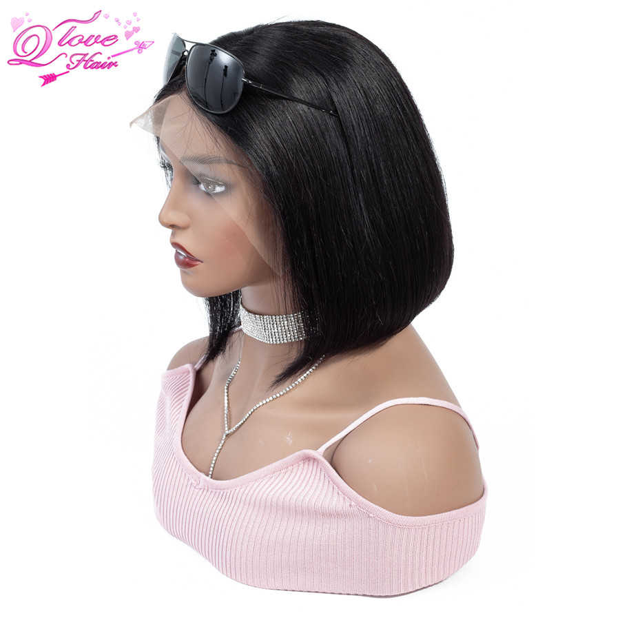 Queen Love 100 Human Hair Wigs 13x4 Malaysian Straight Remy Hair Lace Front Hair Wig Natural