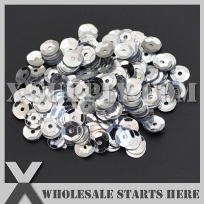Metallic #1 <font><b>Silver</b></font> <font><b>Round</b></font> Loose <font><b>Cup</b></font> <font><b>Sequin</b></font>,Loose Spangle,Loose Paillettes for Shoe,Bag,Clothing/Bulk Wholesale