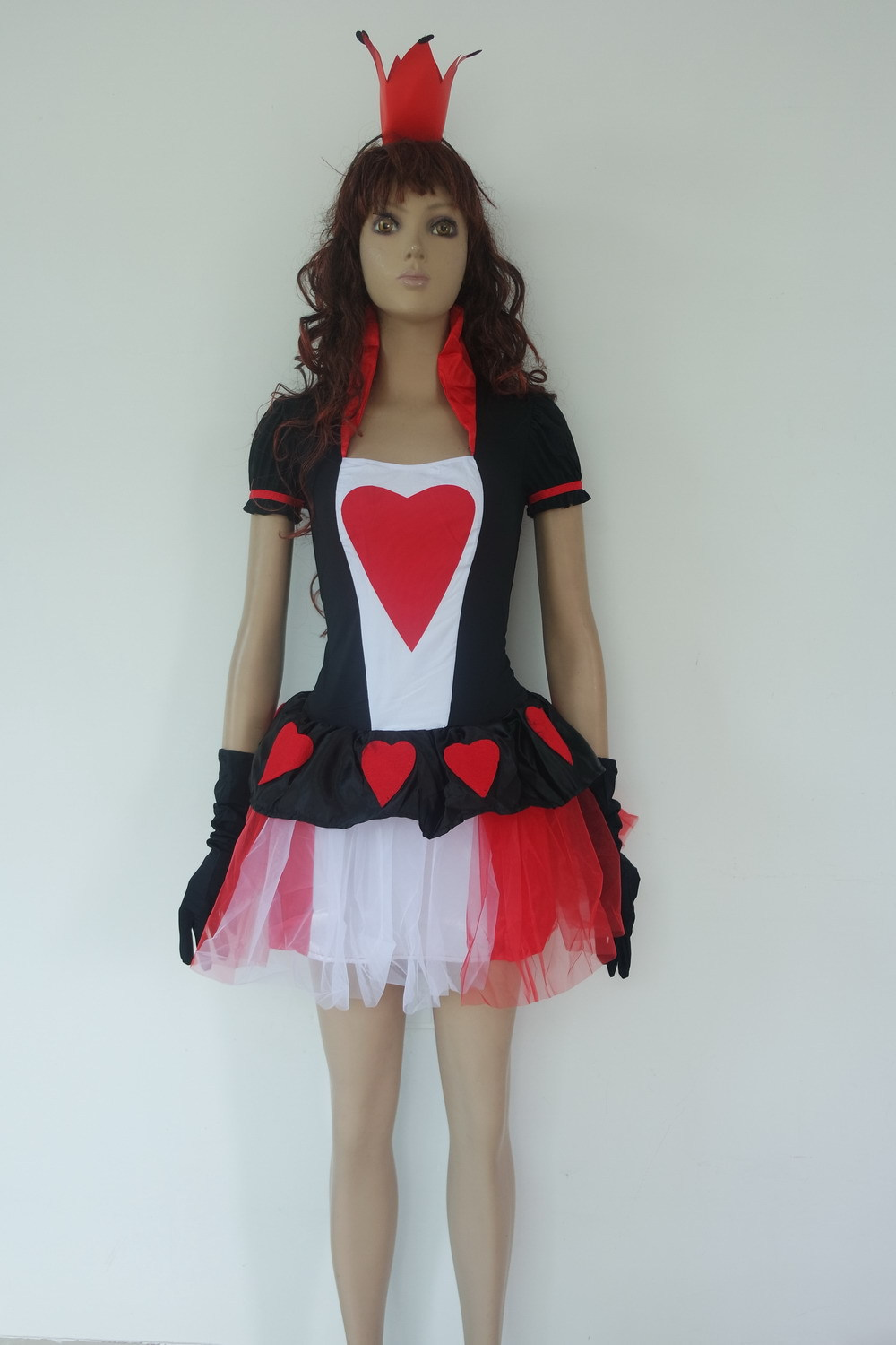 New Arrival <font><b>Halloween</b></font> Costume <font><b>Sexy</b></font> <font><b>Queen</b></font> Costume Women Fancy Dress With Heart Pattern <font><b>Sexy</b></font> Costume image