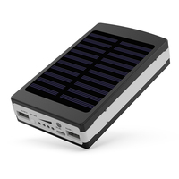 YFW Solar Charger 12000mAh Power Bank 20PCS LED Lamps Powerbank Portable External Battery Packup For IPhone