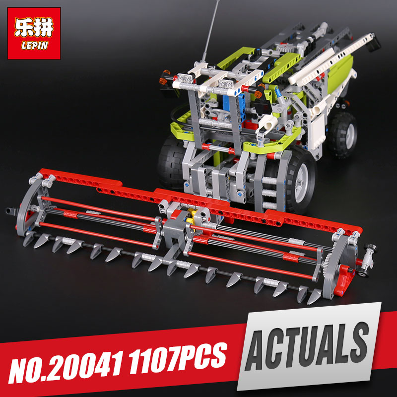 Lepin 20041 Genuine Technic Series The Combine Harvester Set Educational Building Blocks Bricks Toys Model Gift legoing 8274 lepin 02020 965pcs city series the new police station set children educational building blocks bricks toys model for gift 60141