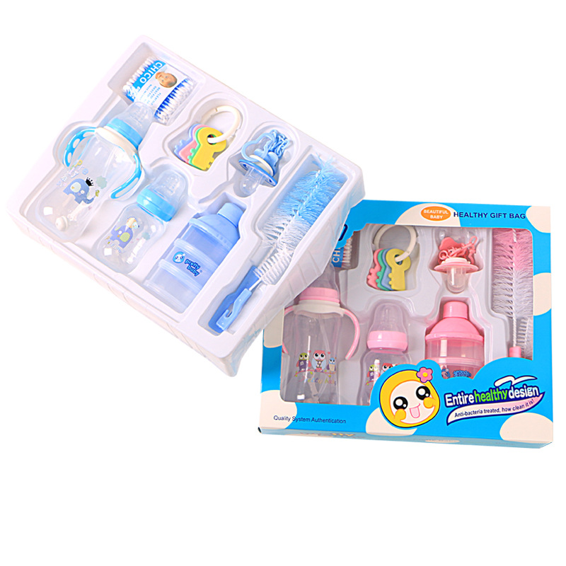 infantil baby care gift kit bebe kit babyNewborn bottle gift set pp bottle comb brush set 10 sets of gifts for children расчески для волос детские happy baby brush comb set 17000 mint