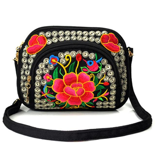 a0e65b166d6f Ethnic Style Handbag Crossbody Bag Embroidery Personality Casual Fashion  Shoulder Canvas Messenger Bag Women Mini Floral Bags